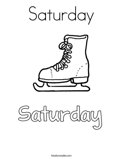 Saturday Coloring Page