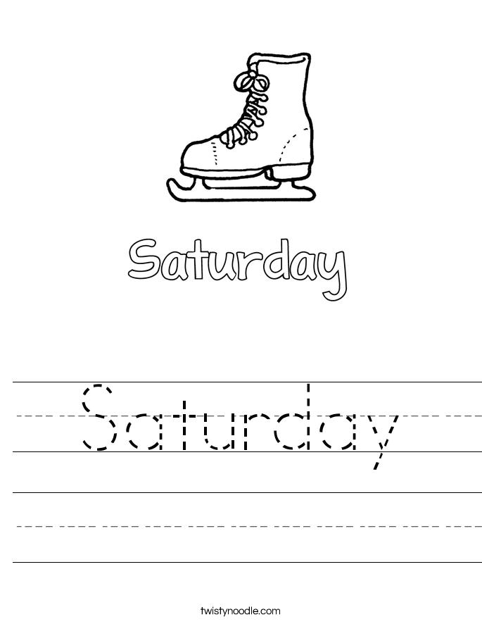 Saturday Worksheet - Twisty Noodle