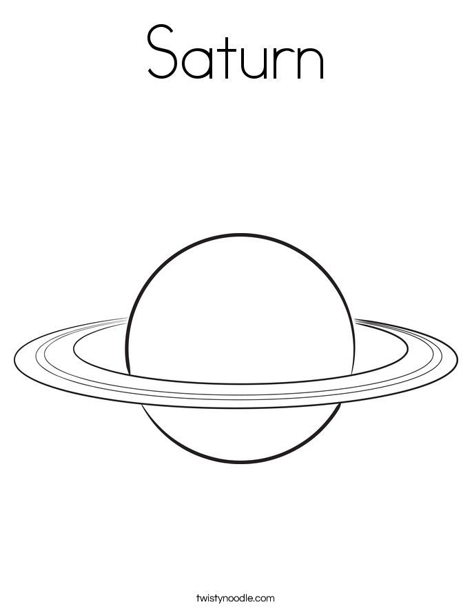 Saturn Coloring Page - Twisty Noodle