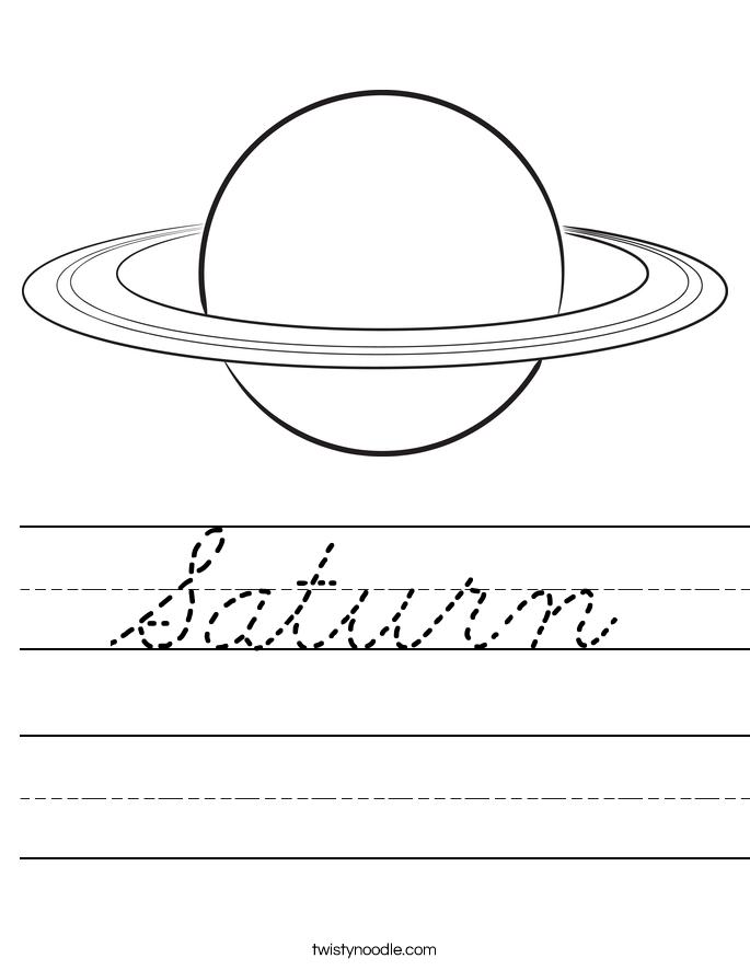 Saturn Worksheet
