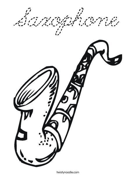 Sax Coloring Page