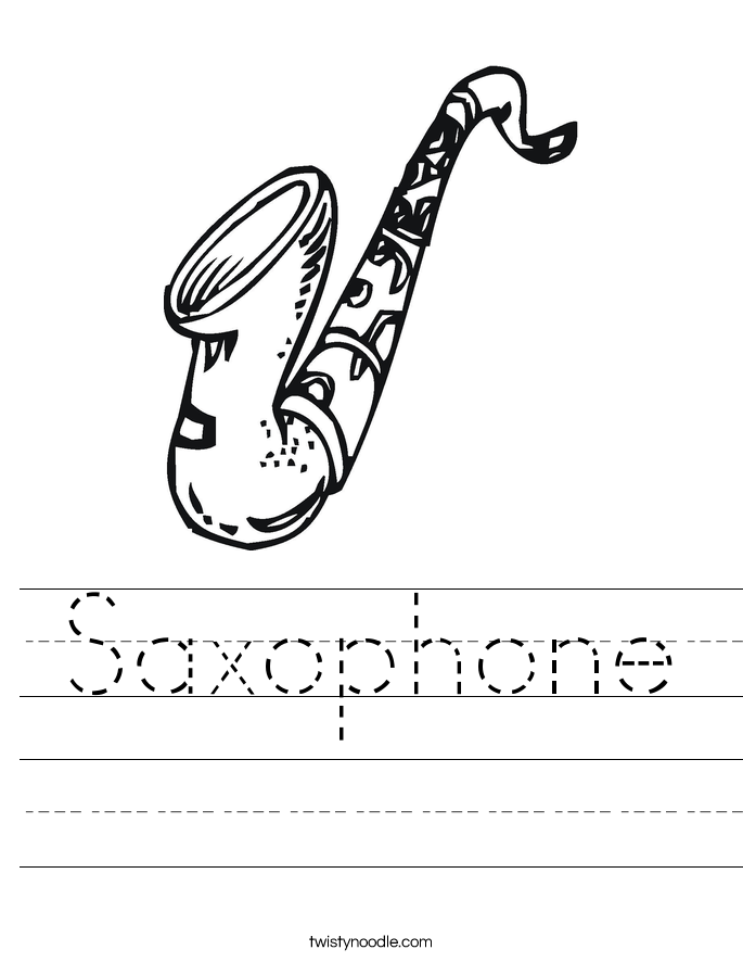 Saxophone Worksheet