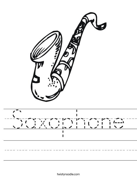 Sax Worksheet
