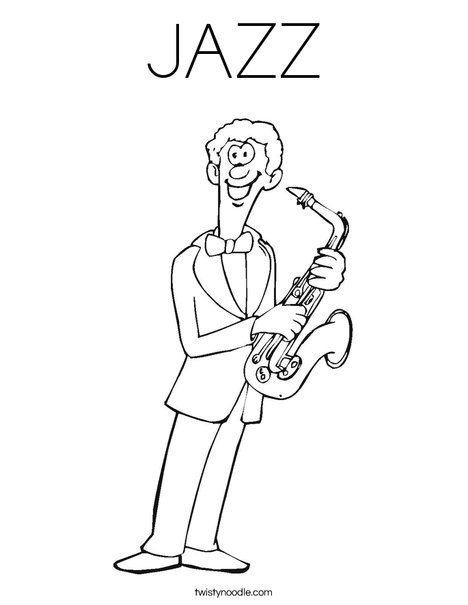jazza coloring pages JAZZ Coloring Page   Twisty Noodle jazza coloring pages