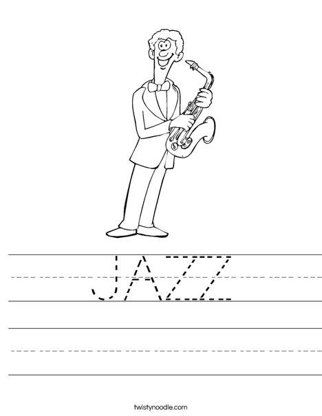 Saxophone Player Worksheet