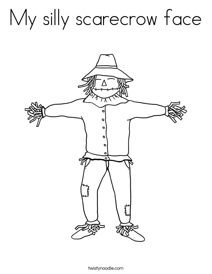 My silly scarecrow face Coloring Page