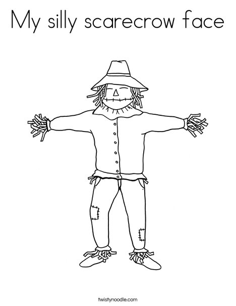 my silly scarecrow face coloring page twisty noodle