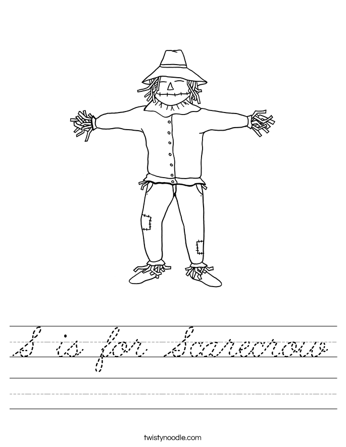 S is for Scarecrow Worksheet