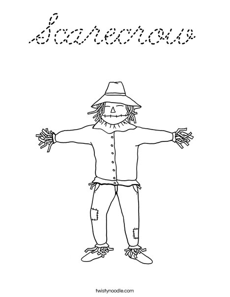 Scarecrow Coloring Page