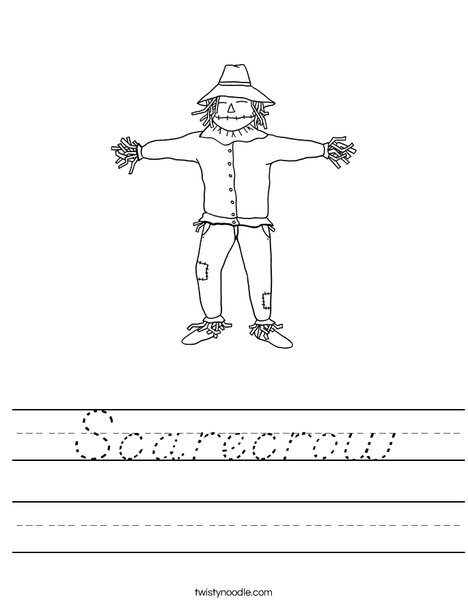 Scarecrow Worksheet