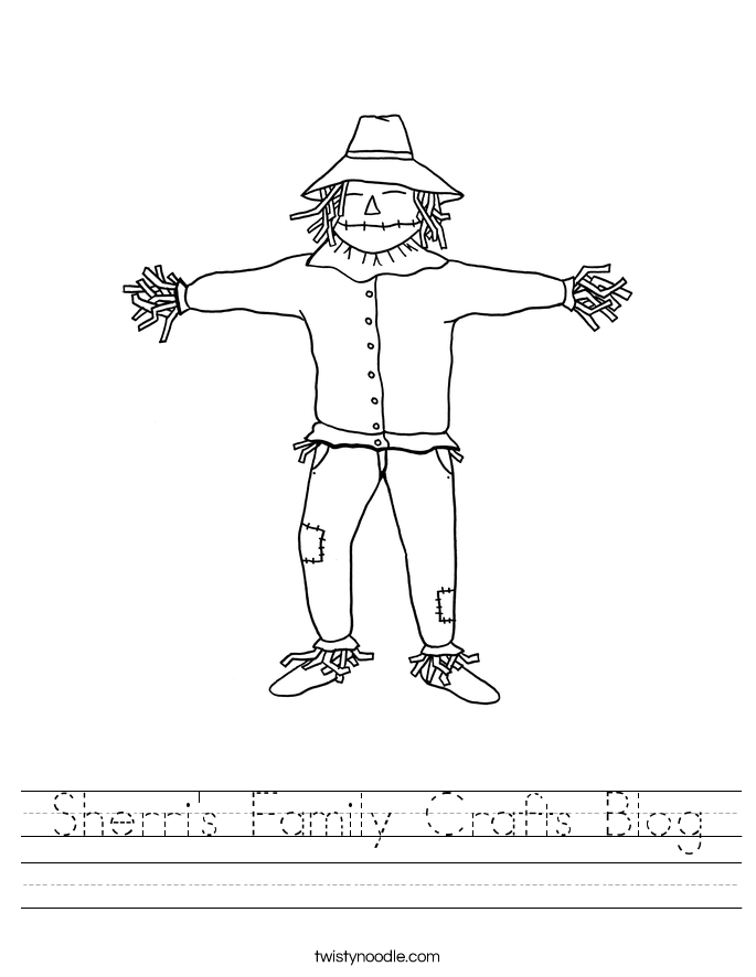 Sherri's Family Crafts Blog Worksheet