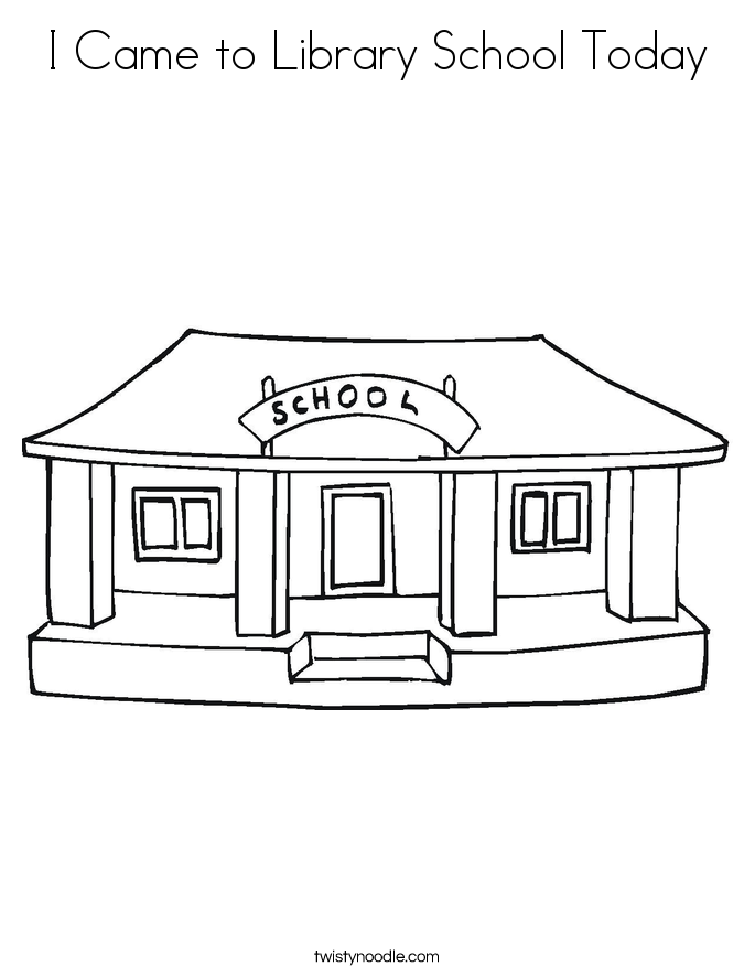 i came to library school today coloring page