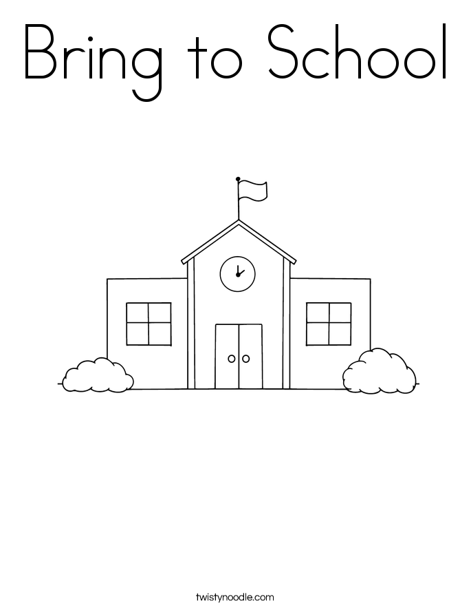 Bring to School Coloring Page