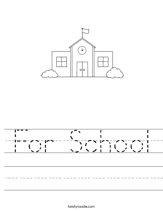 For School Worksheet