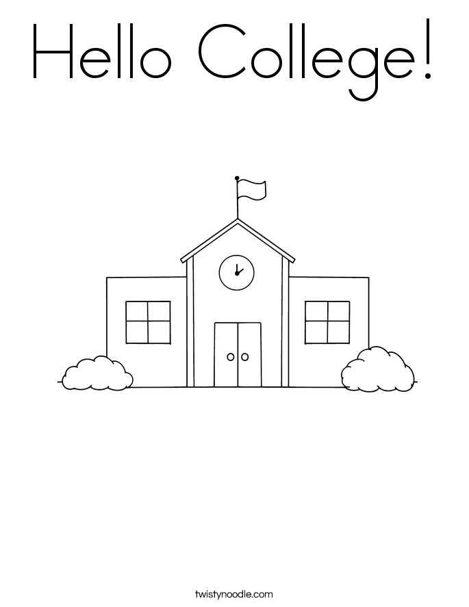 Hello College! Coloring Page