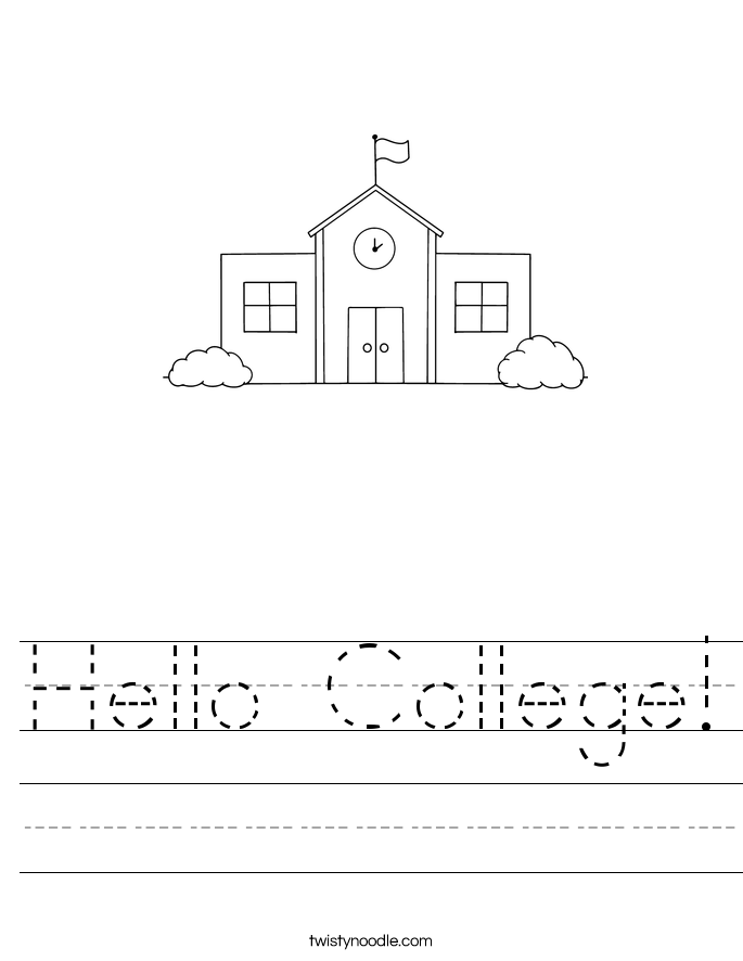 Hello College! Worksheet