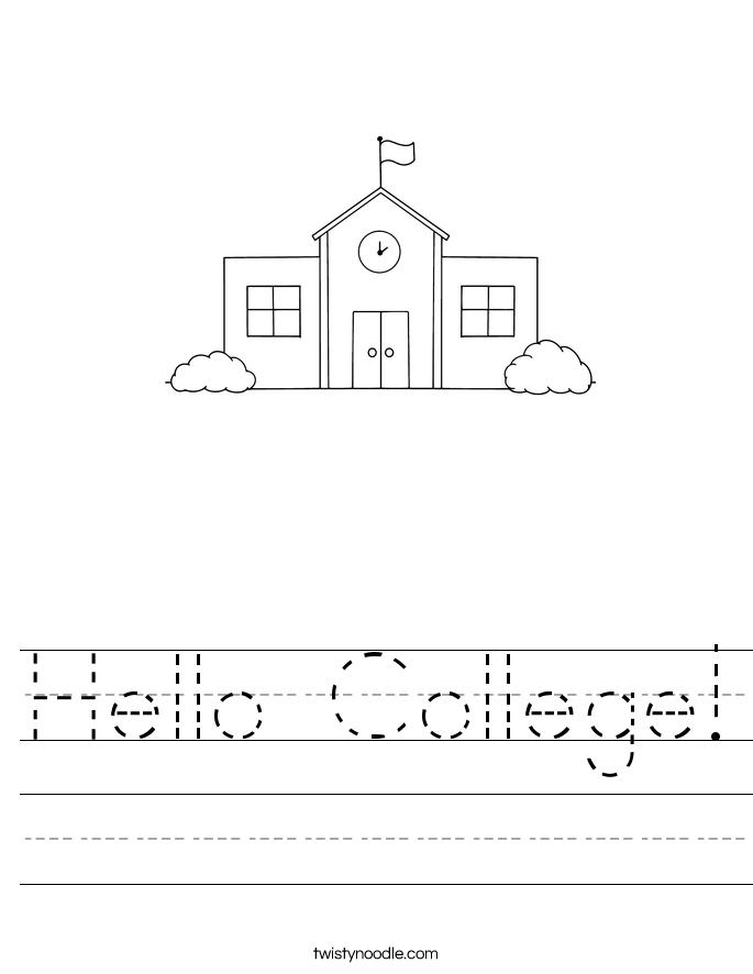 Hello College! Worksheet