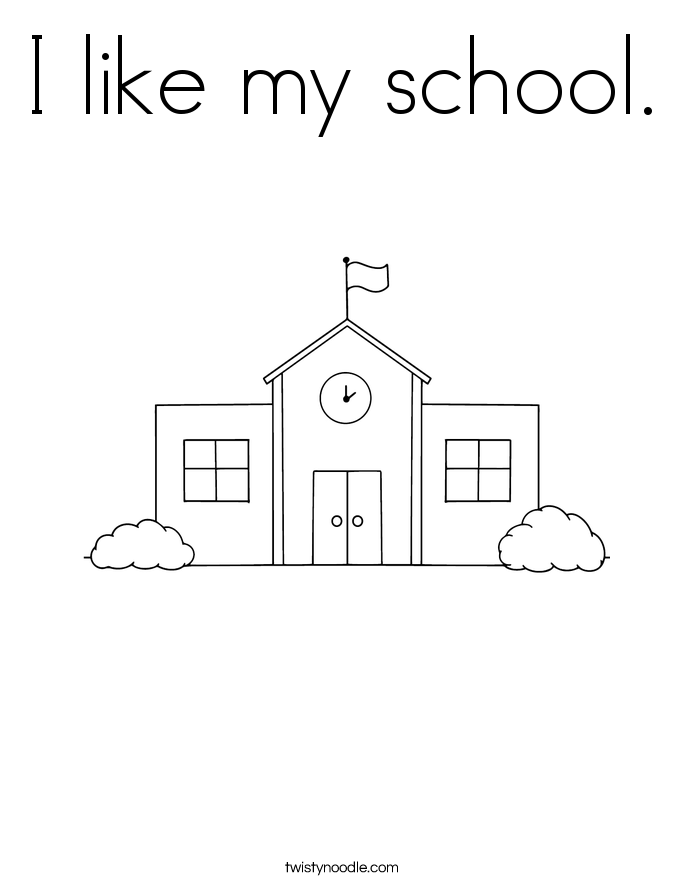 I like my school. Coloring Page