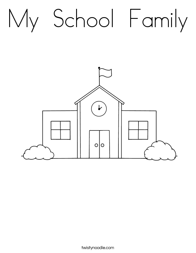 My  School  Family Coloring Page