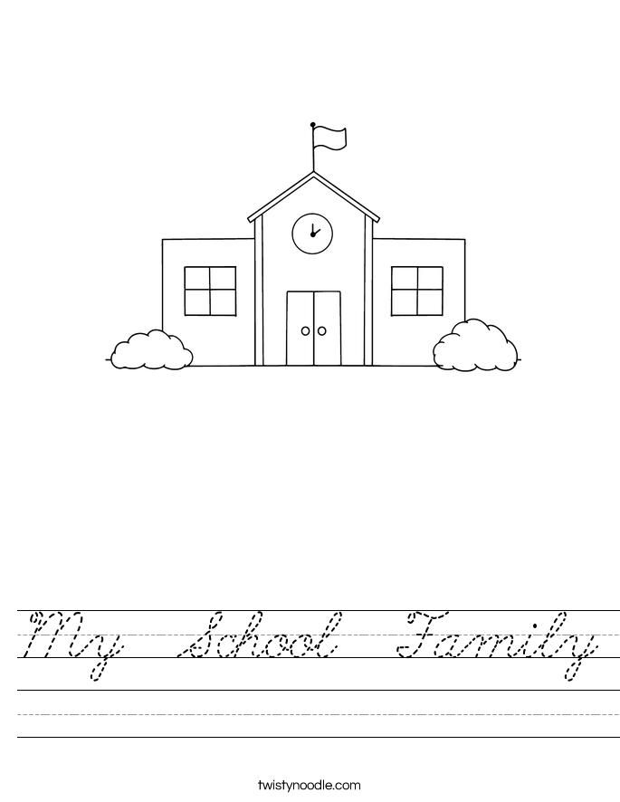 My  School  Family Worksheet