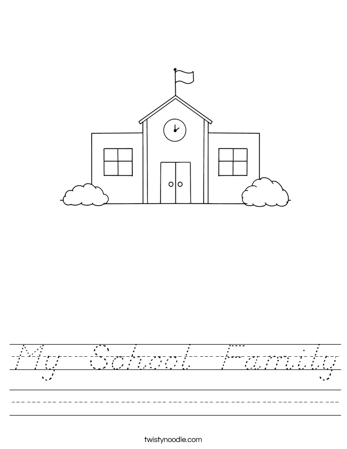 My  School  Family Worksheet