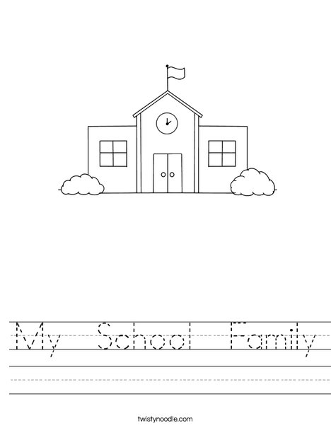 My school family worksheet twisty noodle for My family home page