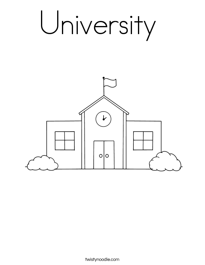 University  Coloring Page
