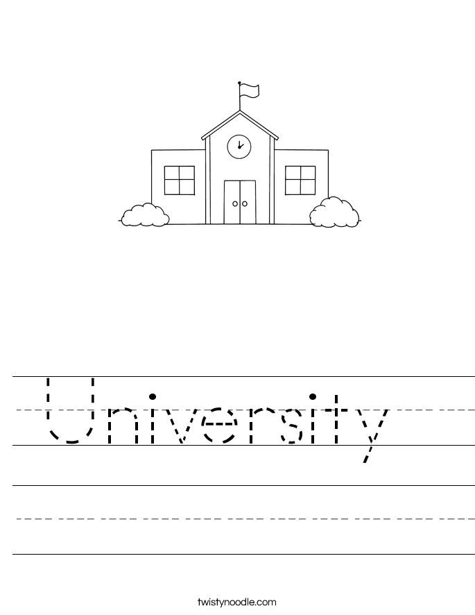 University  Worksheet