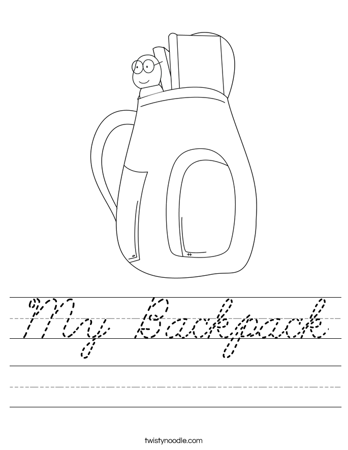 My Backpack Worksheet