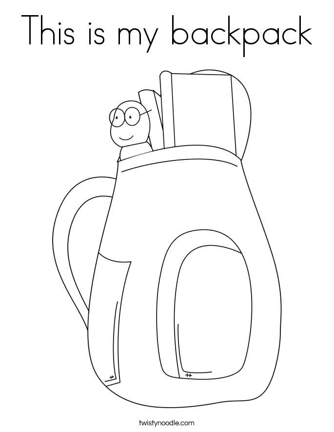 This is my backpack Coloring Page