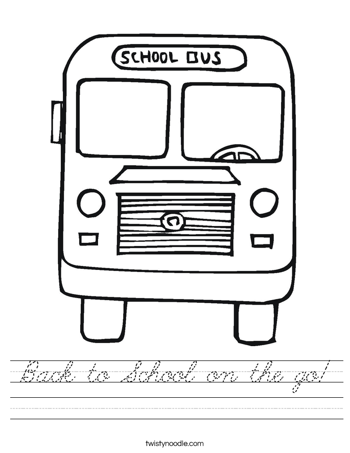 Back to School on the go! Worksheet
