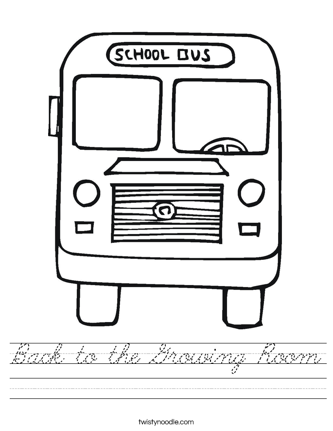 Back to the Growing Room Worksheet
