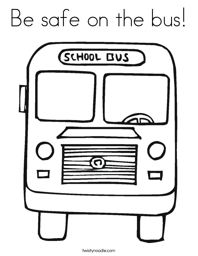 Be safe on the bus! Coloring Page