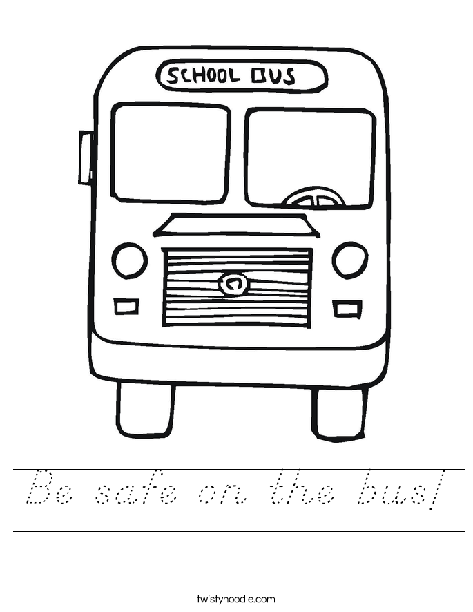 Be safe on the bus! Worksheet