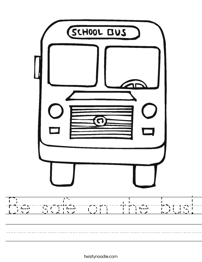 Be safe on the bus! Worksheet