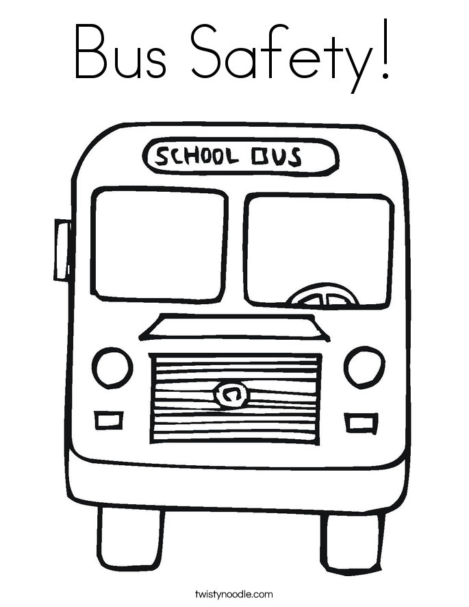 Bus Safety Coloring Page