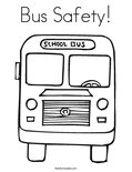 Bus Safety! Coloring Page
