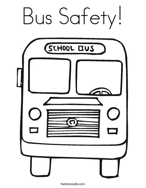 Bus Safety Coloring Page - Twisty Noodle
