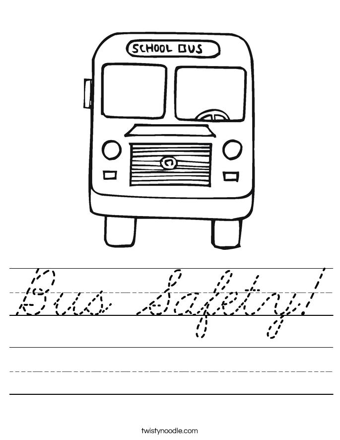 Bus Safety! Worksheet