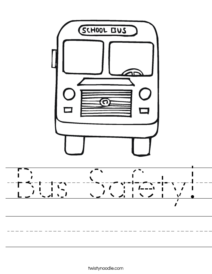 Printables Bus Safety Worksheets bus safety worksheet twisty noodle worksheet