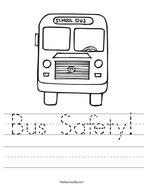 Bus Safety Handwriting Sheet