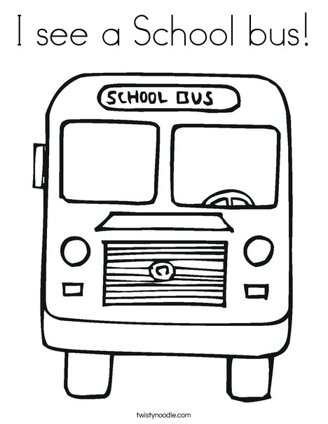 i see a school bus coloring page twisty noodle