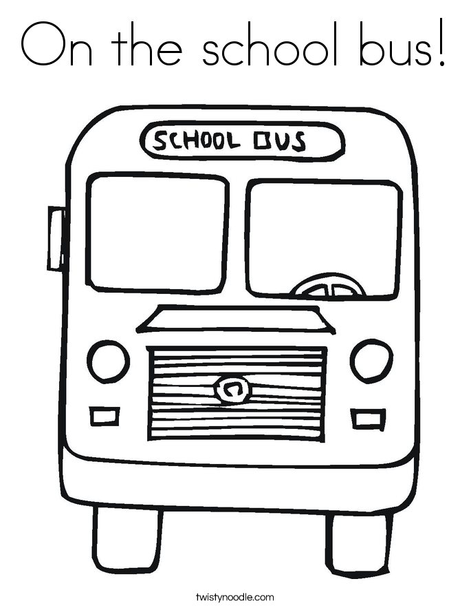 on the school bus coloring page