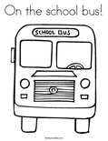 On the school bus! Coloring Page