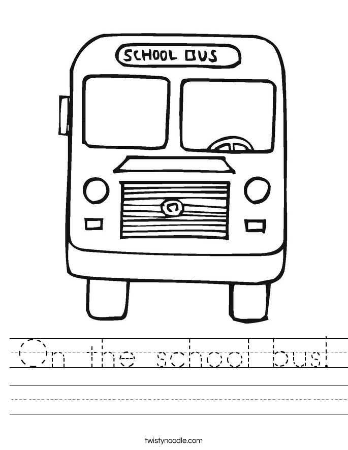 On the school bus! Worksheet