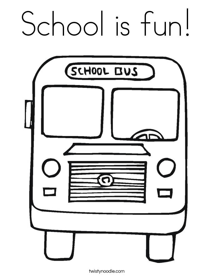 School is fun! Coloring Page