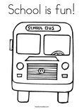 School is fun!Coloring Page
