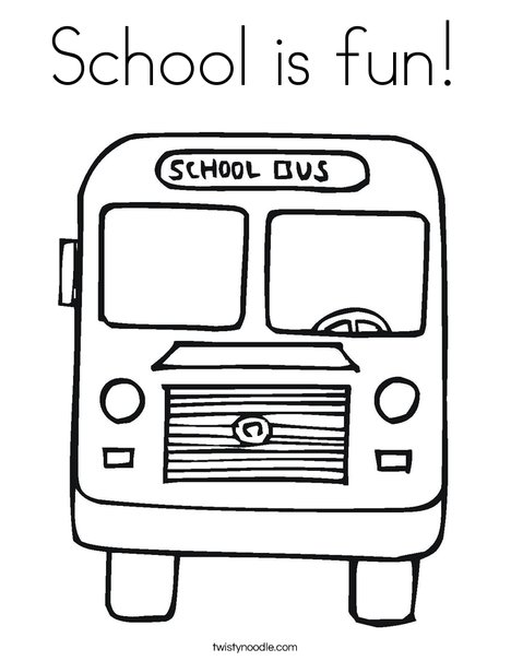 fun school coloring pages - photo#31