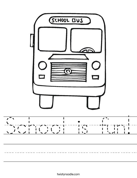 B is for Bus coloring page worksheet | Wheels on the Bus ...