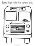 Some kids ride the school bus.Coloring Page